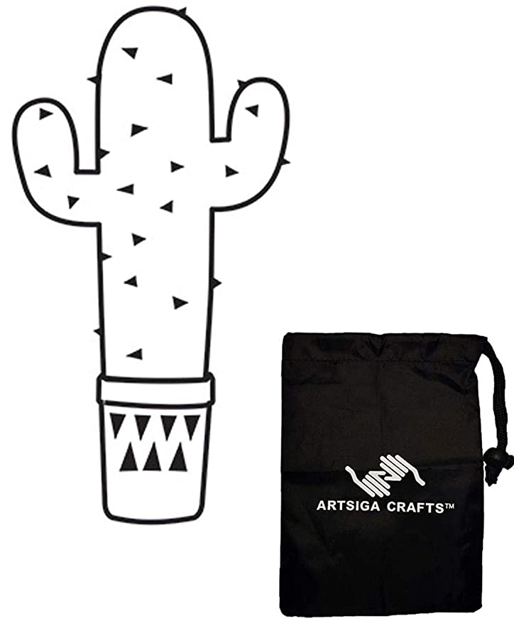 Darice Embossing Folders for Card Making Three Arm Cactus 4.25 x 5.75 inches 30041332 Bundle with 1 Artsiga Crafts Small Bag