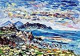 EOLIE olio su tela 50x70cm Pintura con espátula con pinturas al óleo y acrílicas, arte de muebles modernos, arte contemporáneo, arte abstracto, paisajes modernos