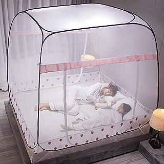 WBHD Tipitält för flickor stort myggnät, tält Twin Size nät gardin hängande säng Baldachin nät myggnät, 3 ingångar, enkel ...