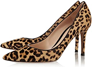 Women Sexy Leopard Printed Dress Shoes Pointy Toe High Heels Stilettos Pumps Size 4-15 US
