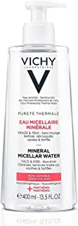 Vichy Pureté Thermale One Step Micellar Cleansing Water & Makeup Remover for Sensitive Skin, 3.38 Fl Oz