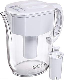 Brita 大型 10 杯容量日常饮水壶兼过滤器 - 不含双酚A - 白色 白色 大