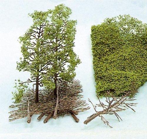 Heki 1533 Baum-Set mit Flor, 10-teilig, Höhe 18 cm, Mehrfarbig