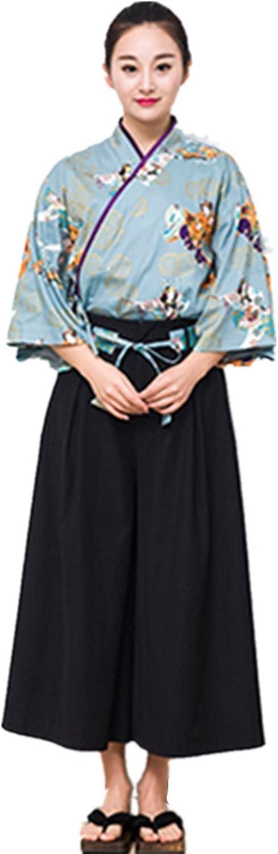 XINFU Japanese Sushi Chef Kimono Japanese Style Art Pattern More Ladies Suit Japanese Style