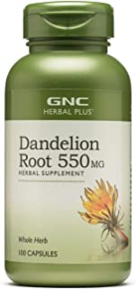 GNC Herbal Plus Dandelion Root 550mg, Capsules, 100 ea