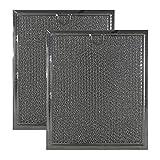 2-Pack Air Filter Factory Replacement for GE AP2016554 Range Hood Aluminum Grease Filters