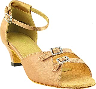 Womens Ballroom Dance Shoes Party Salsa Practice Shoes 1620EB Comfortable -Very Fine 1.3