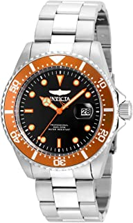 Invicta Men's Pro Diver Quartz Diving Watch with Stainless-Steel Strap, Silver, 9 (Model: 22022)