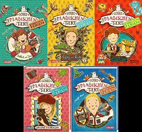 Die Schule der magischen Tiere - Endlich Ferien Band 1-5 plus 1 exklusives Postkartenset