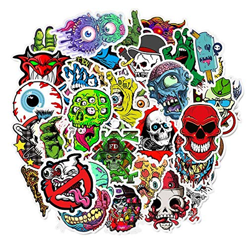 50pcs Terror Sticker Graffiti Skeleton Dark Funny Stickers for DIY Sticker On Travel Case Laptop Skateboard Kühlschrank