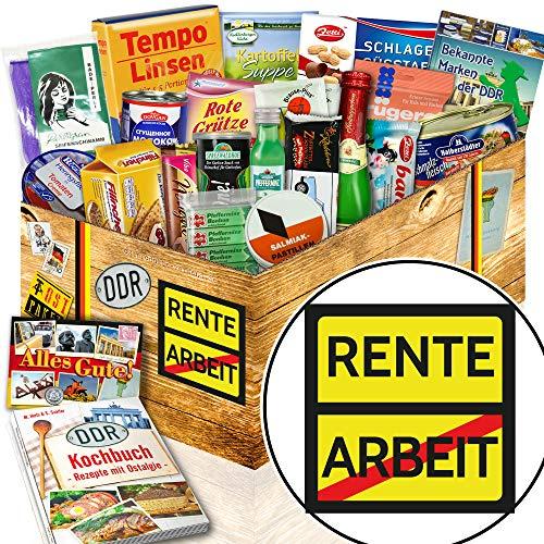 Rente / Ruhestand Schokolade / DDR Geschenkbox Spezialitäten