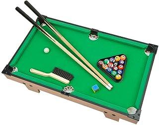Portzon Mini Pool Table, Premium Tabletop Billiards Mini Snooker Game Set - Balls, Cues, and Rack Pool, Sport Bank Shot Fa...