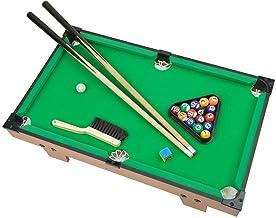 Portzon Mini Pool Table, Premium Tabletop Billiards Mini Snooker Game Set - Balls, Cues, and Rack Pool, Sport Bank Shot Family Playing