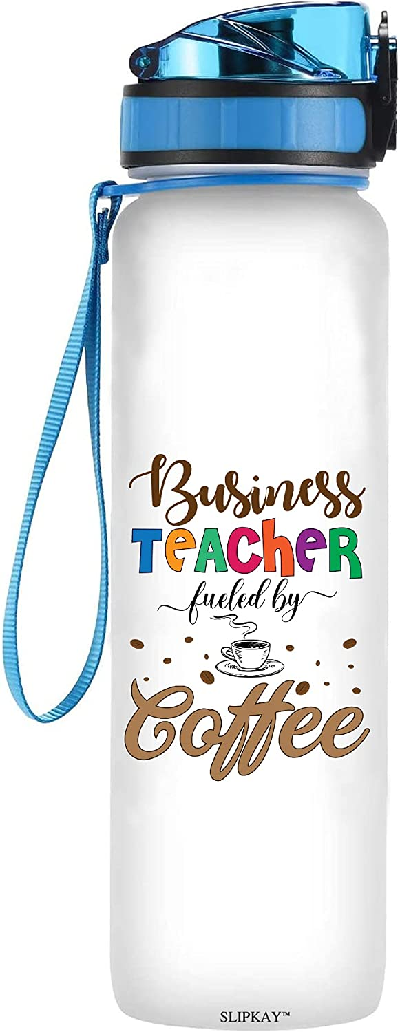 Business Max 80% OFF Teachers Fueled By Coffee Tracker Bottle Water OFFicial shop