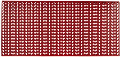 Sipa 5/578 Pannello Forato in Lamiera Verniciata, 1000 x 500 mm, Rosso