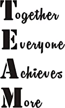 Everysticker4u Team Together Everyone Achieves More Office Inspirational Mural Quote Vinyl Wall Sticker Decals Transfer Words Lettering Uplifting (Size2: 22.8