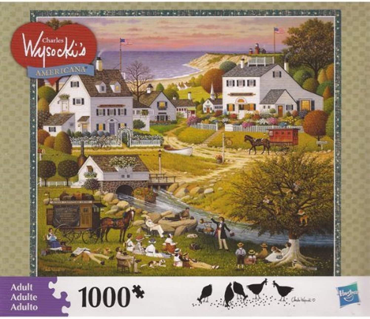 CHARLES WYSOCKI's AMERICANA PUZZLE Riverside Family Reunion 1000 Piece by MB PUZZLE