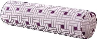 Ewindy European Candy Pillow Long Cylindrical Head Cervical Pillow Removable Waist Support Pillow (Purple 3, S)