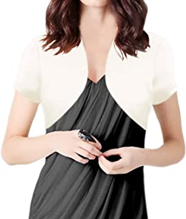 Alivila.Y Fashion Womens Satin Short Sleeve Bolero Shrug Jacket