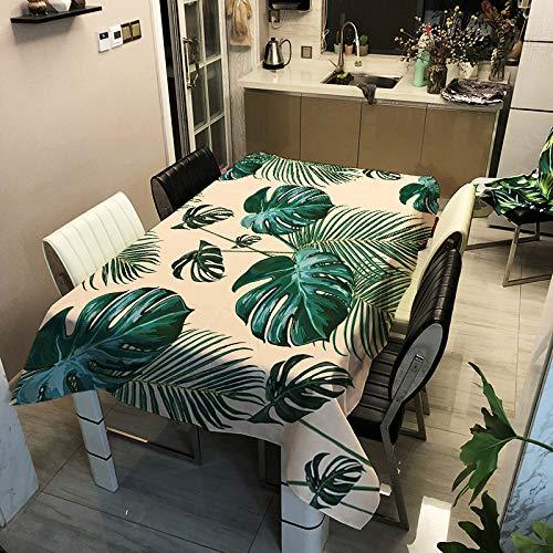 SHANGZHAI Polyester wasserdichte gepolsterte Tischdecke, digital Bedruckte Tischdecke, Home Fashion Tischdecke, grüne Pflanze Serie ZB2031-13 90x90cm