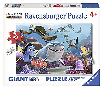 Ravensburger Disney Finding Nemo Smile 60 Piece Floor Jigsaw Puzzle for Kids – Every Piece is Unique, Pieces Fit Together Perfectly