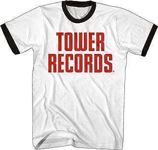 Tower Records Vintage Stack Logo - Adult Ringer T-Shirt