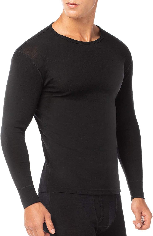 LAPASA Mens 100/% Merino Wool Thermal Underwear Top Crew Neck Base Layer Long Sleeve Undershirt M29M67