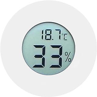 Inomhus termometer, digital cirkulär - 50 - +70 ° C Fuktighetsmätare Mini inbäddad för kylskåp för displayskåp(white)