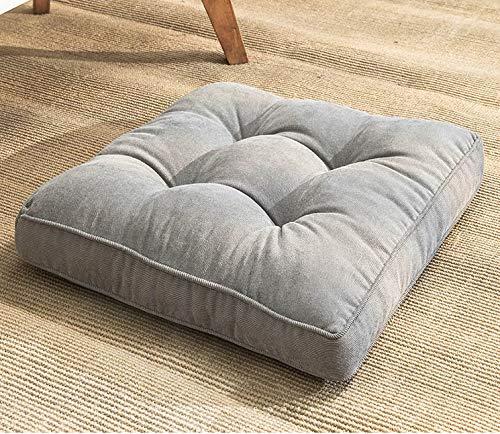 Waigg Kii Cojín cuadrado suave para silla, cojines acolchados de 10 cm, cojines de asiento de silla, cojines para interior y exterior, sofá de jardín (gris, 45 x 45 x 10 cm)