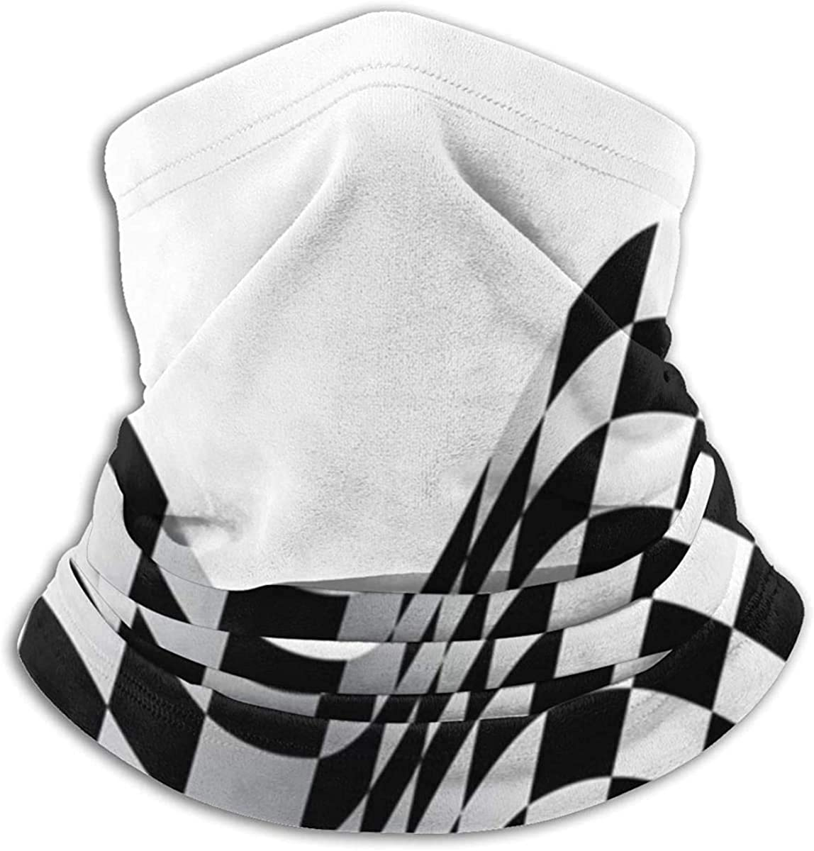Checkered Race Flag Technology Neck Warmer Multifunction Scarf Hat Neck Gaiter Neck Cap Bala Windproof Neck Heating Wrap Outdoor Sports