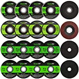 """GALAX PRO Grinding Discs, 20 Pack by 5PCS Grinding Wheel,10 PCS Cutting Wheel, 5 PCS Flap Disc with 4-1/2"""" Diameter and 7/8"""" Arbor for Angle Grinder"""