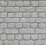 Rasch Tapeten?Papel pintado colección piedras y fino, gris, 226720