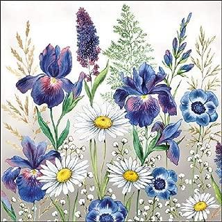 . 33 x 33 cm 4 servilletas individuales para manualidades y servilletas 3 capas flores mixtas 4 servilletas de papel para decoupage