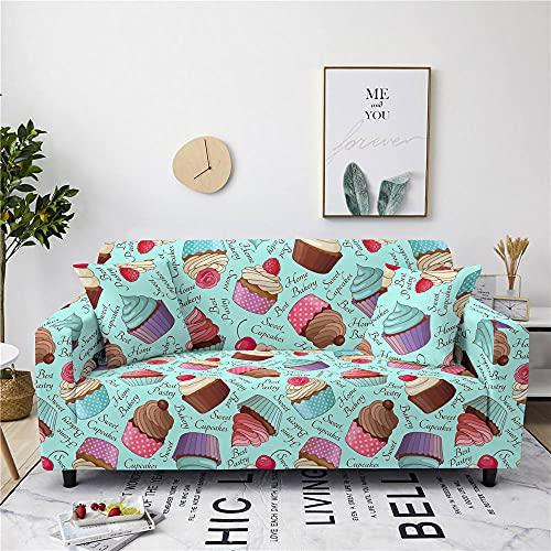 Fundas Sofas 3 y 2 Plazas Ajustables Pastel Azul Huevo Pato Fundas para Sofa Ajustables Funda Sillon Spandex Lavables Cubre Sofas Chaise Longue Modernas Funda Sofá Universal Fundas de Sofa Espesas