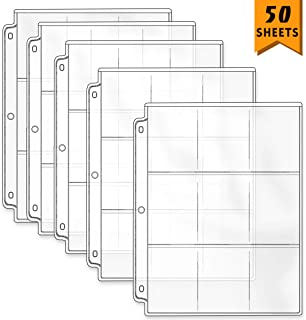 Neworkg 450 Pockets Transparent Trading Card Storage Album Pages 9-Pocket Game Card Sleeves Collector Coin Holders Wallets...