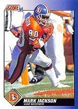 1991 Score Football #41 Mark Jackson Denver Broncos Official NFL Trading Card