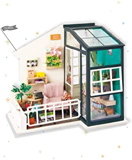 Rolife DIY Miniature Dollhouse Kit,Fancy Balcony with Furniture,Wooden Dollhouse Kit for Kids,Toy Playset Gift for Teens,Best Birthday/Christmas for Women and Girls