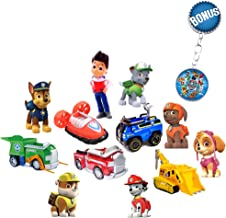 Paw Patrol Mini Figurines – Deluxe Set of 12 Cupcake Toppers – Premium Party Favors for Kids – Toddler Cartoon Action Figu...