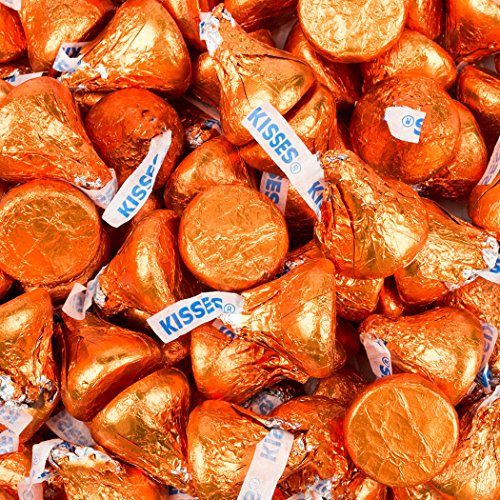 Orange Hershey's Kisses 1lb (Free Cold Packaging)