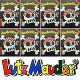 Lutz Mauder 8 ZAUBERBLÖCKCHEN * Jolly Roger * im Set mit je 24 Seiten in DIN A8 Mitgebsel Kindergeburtstag Malbuch Pirat Schwarze Flagge Totenkopf