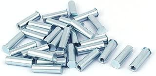 Aexit M6 x Nails, Screws & Fasteners 30mm Full Thread Hex Head Clinch Stud Self Clinching Blind Nut & Bolt Sets Standoff 30PCS