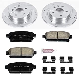 Power Stop K5544 Rear Brake Kit with Drilled/Slotted Brake Rotors and Z23 Evolution Ceramic Brake Pads