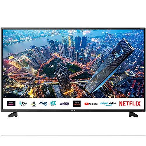 SHARP 4T C55BJ2KE2FB 55 Inch 4K Smart TV, UHD HDR TV with Harman/Kardon...