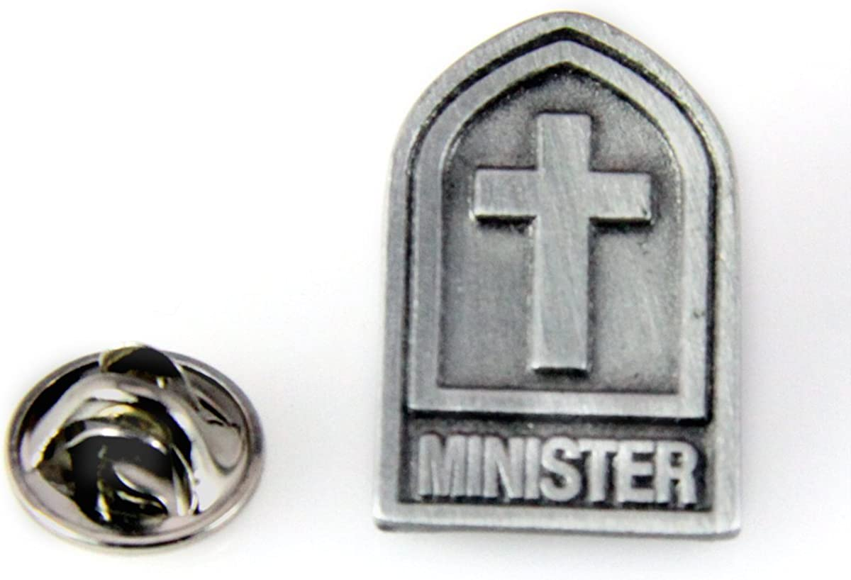 Pins & Brooches 6030157 Minister Lapel Pin Clergy Religious Pastor Christian Priest Tie Tack Server