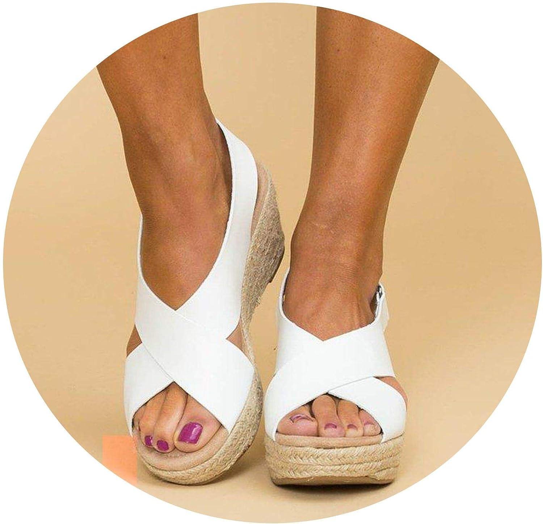 Monicas-Dream New Women Pumps Cross-Tied High Heels Platform Wedge Sandals Ladies shoes Woman Summer Sandals