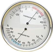 Almencla Termómetro de Barómetro de Pared Higrómetro de Temperatura Estación Meteorológica Instrumento de Precisión Barómetro Numérico