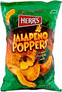 Herrs Jalapeno Poppers 198.5g x 1 Pack Flavoured Herr's Cheese Curls US Snacks