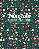 Teacher Lesson Planner: Teacher Agenda For Class Organization and Planning |  Undated Daily planner Featuring 2020 Calendar, Class List & Notes Large (8'x10'in) Floral Branches Design
