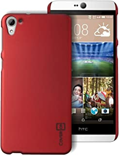 HTC Desire 826 Case, Back Cover Protector [CoverON Slender Fit Series] Slim Shell Style with Enhanced Rubberized Matte Grip [Hard Thin Plastic Shield] Phone Cover Case for HTC Desire 826 - Red …