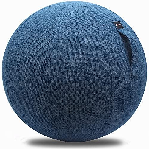 XGYLVFEI Silla de bola sentada de 65 cm, adecuada para oficina, dormitorio y familia, pelota de yoga con cubierta, silla de bola ergonómica ligera y autosuficiente